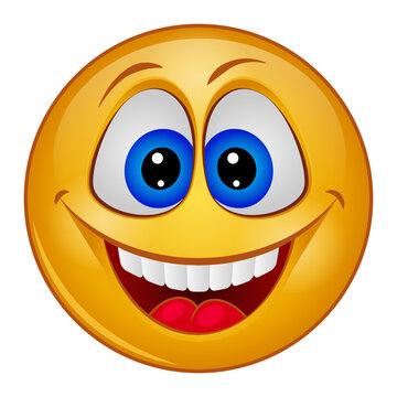 Gradient style emoji smile.
