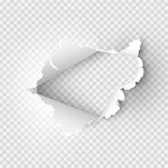 Obraz ragged Hole torn in ripped paper on background - fototapety do salonu