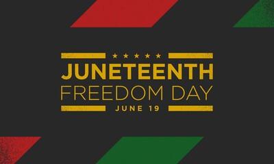 Fototapeta Juneteenth Freedom Day Background Design. Vector Illustration. obraz