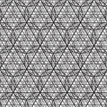 Flower of Triangles - 4 Recursions Deep Sacred Geometry Pattern Vector AI