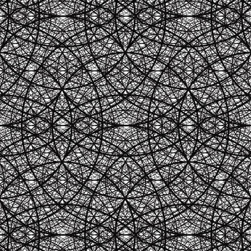 Untying the Knot with Chaos Healing - 4 Recursions Deep Sacred Geometry Pattern Vector AI