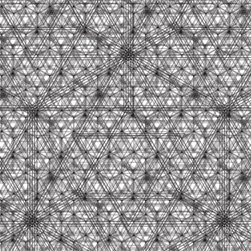 Trippy Hex Nature Magic Pattern - Optical Illusionary Hexagonal Sacred Geometry Pattern in Vector AI