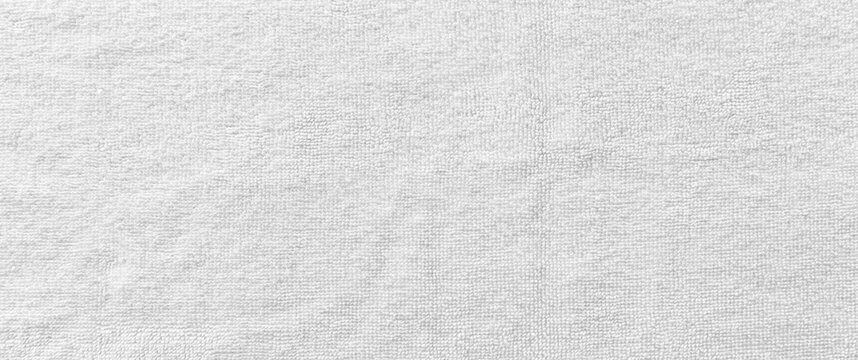Panorama of New white towel texture and background seamless