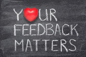 Fototapeta your feedback heart obraz