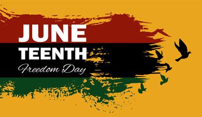 Obraz Juneteenth Emancipation Day, Fist raise up breaking chain. - fototapety do salonu