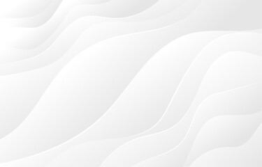 White and light gray wave flowing modern soft luxury texture with smooth and clean vector subtle abstract background
