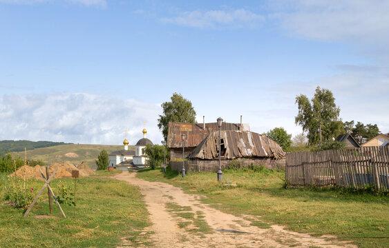 Old houses in small island-village Sviyazhsk. Kazan,Tatarstan, Russia.