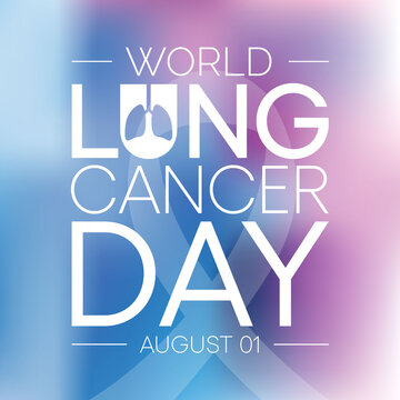 World Lung Cancer day is observed every year on August 1st, it is cancer that starts in the lungs. When a person has cancer, they have abnormal cells that cluster together to form a tumor. Vector art