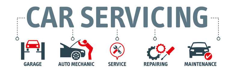 Banner Car service and repair. Vector illustration concept