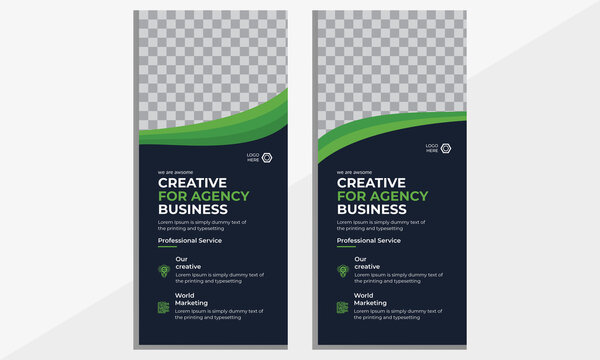 Corporate Dl flyer rack card.