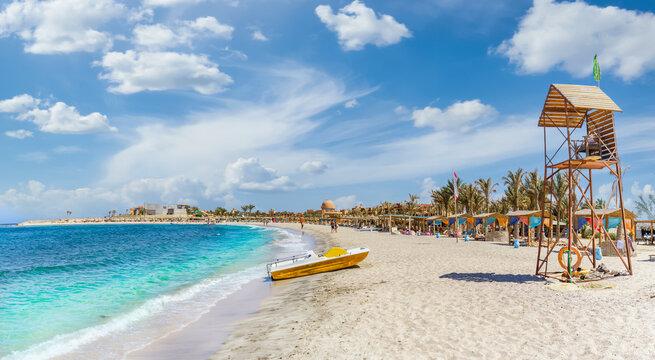 Landscape with beach in Abu Dabbab, Marsa Alam, Egypt