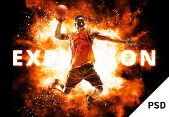 Fototapeta Explosion Effect Mockup obraz