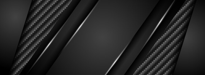 Abstract Black Background with Carbon Textured Combination.
