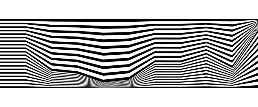 Abstract monochrome background with lines. Black and white striped backdrop.