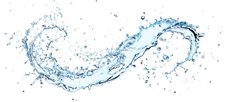Splash Flow Water With Fresh Drops