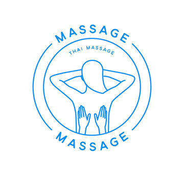 Massage logo. Thai massage label for beauty company