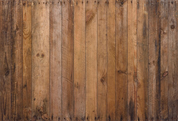 Obraz Old wood background texture. Vintage weathered rough planks with rusty nails, evenly sharp and detailed backdrop. - fototapety do salonu