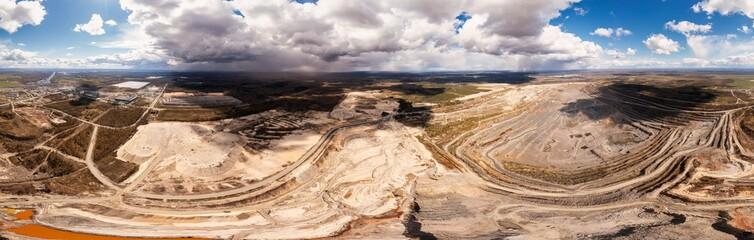 Granite quarry aerial 360 degree panorama - fototapety na wymiar