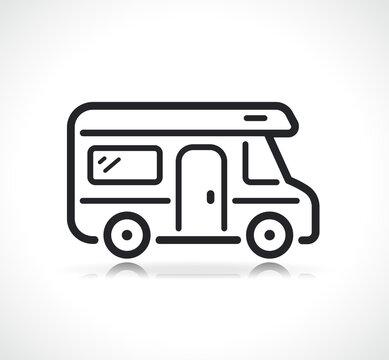 camping car or campervan icon