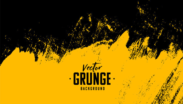black and yellow abstract dirty grunge background