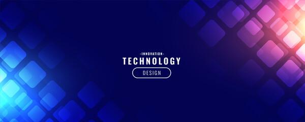blue technology digital banner design