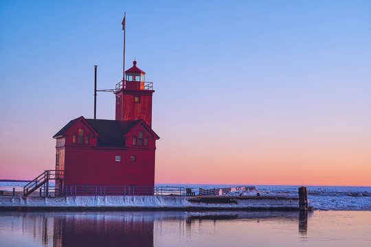 Holland Harbor Lighthouse, Holland, Michigan, USA