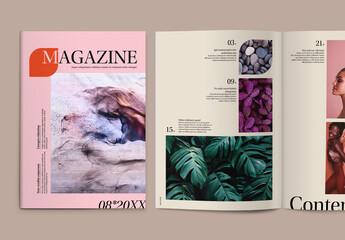 Fototapeta Modern Magazine Layout with Colorful Accents obraz