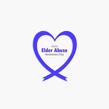 World Elder Abuse Awareness Day, Vector Illustration,