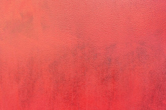 Abstract bright red painted old wall background