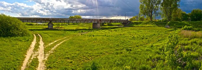 Stary most kolejowy na Kanale Ulgi, miasto Gorzów Wielkopolski
