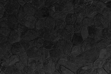 Building exterior black granite block wall texture and background seamless - fototapety na wymiar