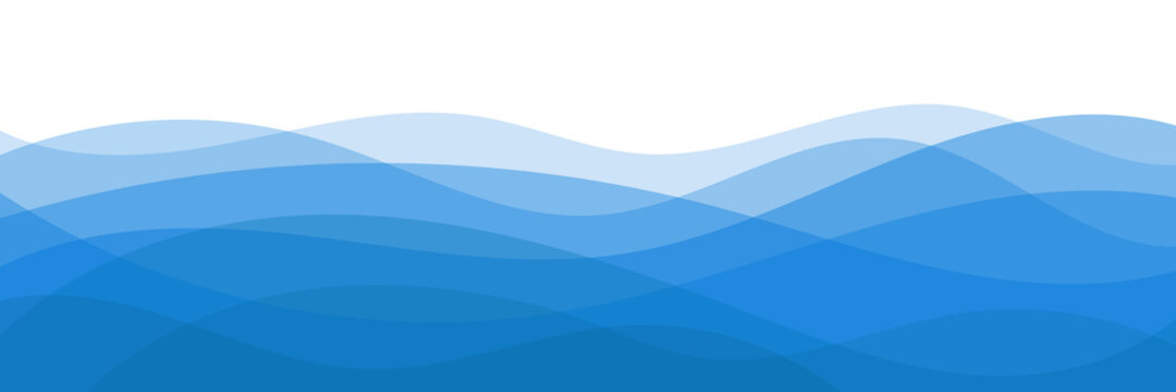 Abstract vector background, banner. Stylization of sea waves.