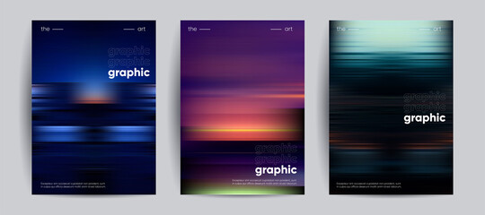 Obraz Abstract covers with Motion gradient. Blurred colors vector background. - fototapety do salonu