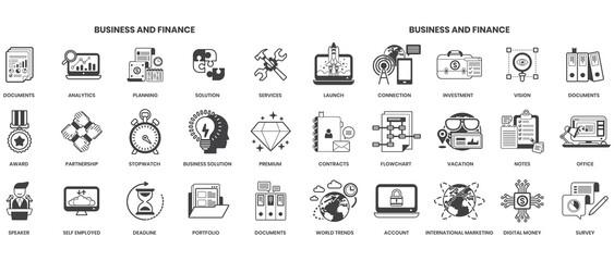 Fototapeta Business icons set for business obraz