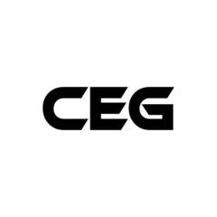 Obraz CEG letter logo design with white background in illustrator, vector logo modern alphabet font overlap style. calligraphy designs for logo, Poster, Invitation, etc.  - fototapety do salonu