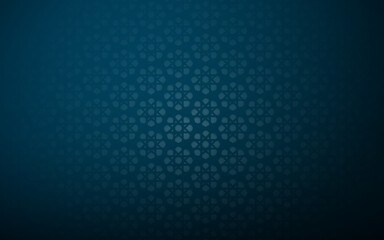 Abstract geometric Islamic decoration pattern on blue background. Vector illustration