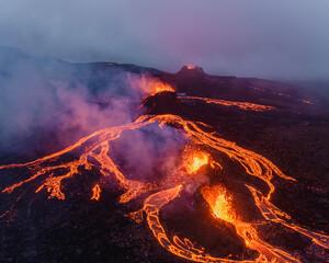 Obraz Geldingadalur volcanic eruption in Iceland 2021 - fototapety do salonu