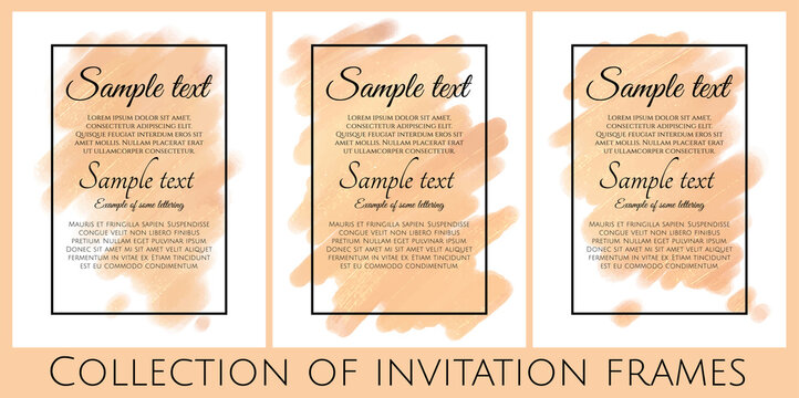 collection of yellow invitations with shine texture