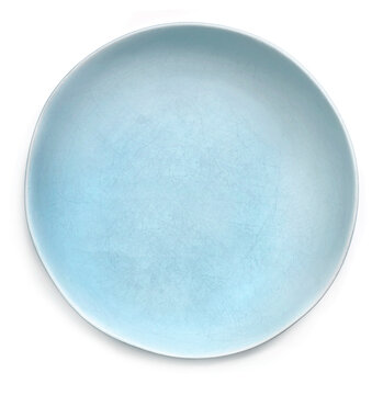 Empty Rustic Blue Plate Top view Isolated