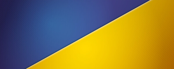 Fototapeta Blue-Yellow background. Vector 3d illustration. Background divided into two colors by diagonal. obraz
