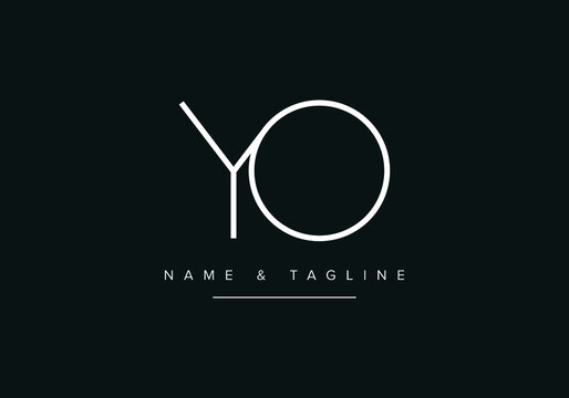 Abstract alphabet letter Logo icon YO