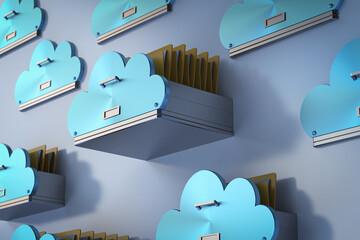 Fototapeta Cloud storage technology obraz