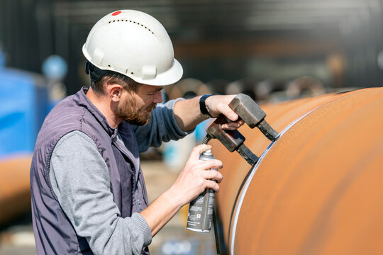 Magnetic particle testing (MPT), or magnetic particle inspection, is a non destructive examination (NDE) technique used to detect surface and slightly subsurface flaws in most ferromagnetic materials.