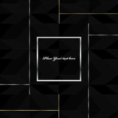 Obraz abstract, art, backdrop, background, black, blank, bright, brochure, business, card, color, concept, cover, creative, dark, decoration, decorative, design, digital, element, futuristic, geometric, gra - fototapety do salonu