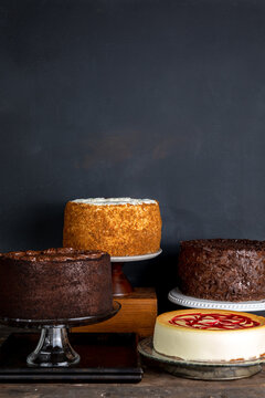 Assortment of whole cakes
