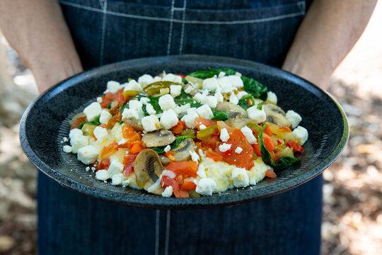 Breakfast vegetable bowl