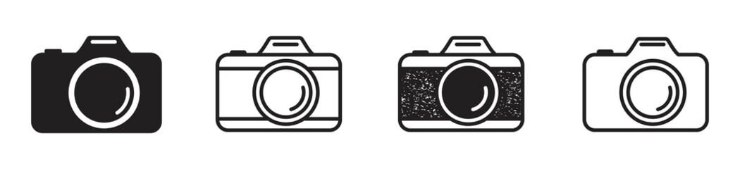 Fototapeta Camera icon set. Photo camera icon in different style. Vector illustration obraz
