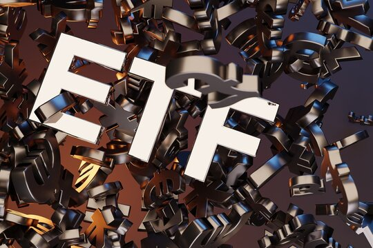 ETF - Exchange Traded Fund. Trade Market IPO Financial Technology