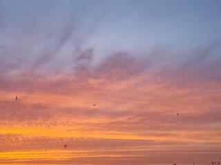 Obraz sunset over the sea - fototapety do salonu