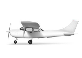 Fototapeta 3D White Private Single Engine Taxiing Plane obraz